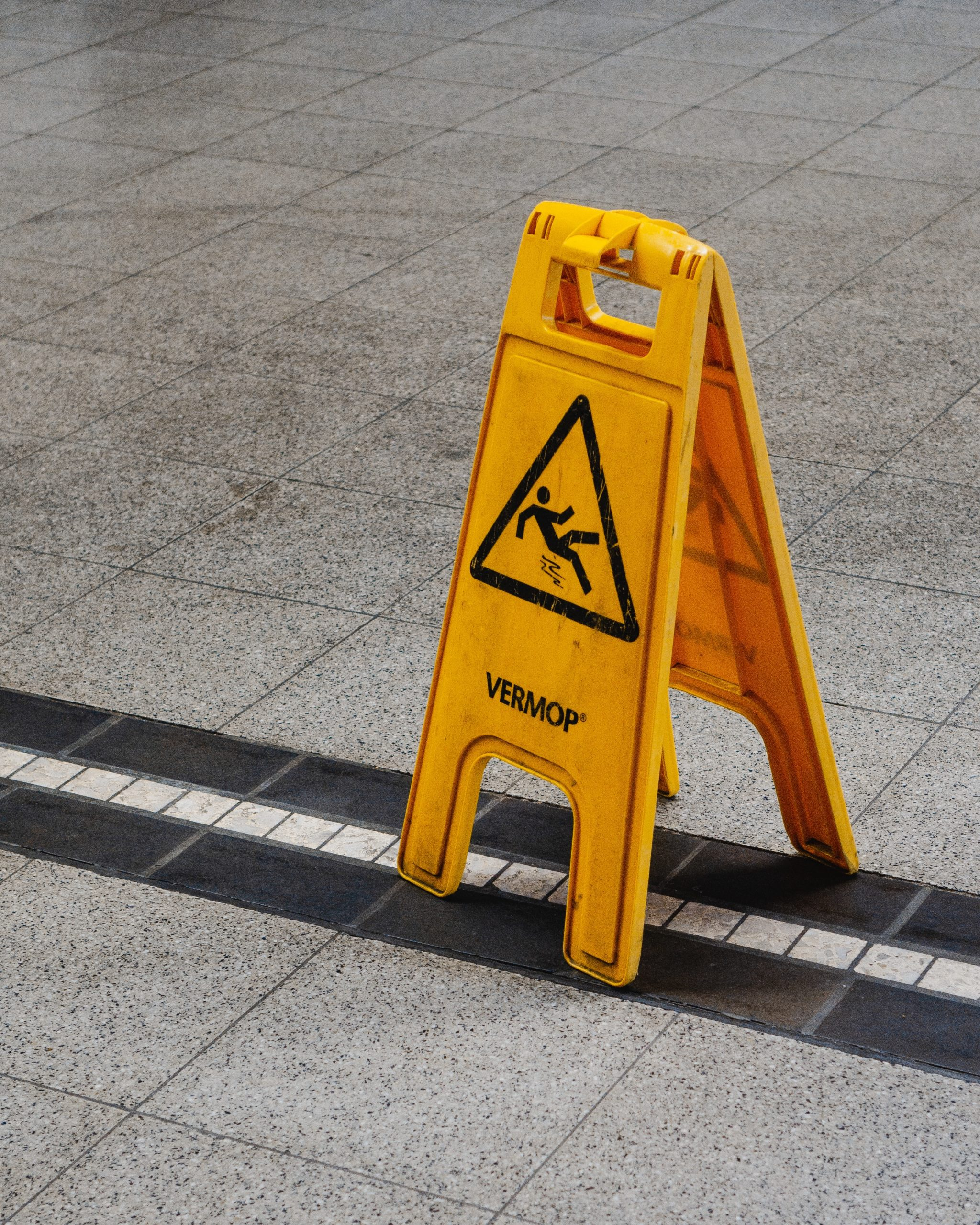 Slip and Fall Yellow Floor Sign