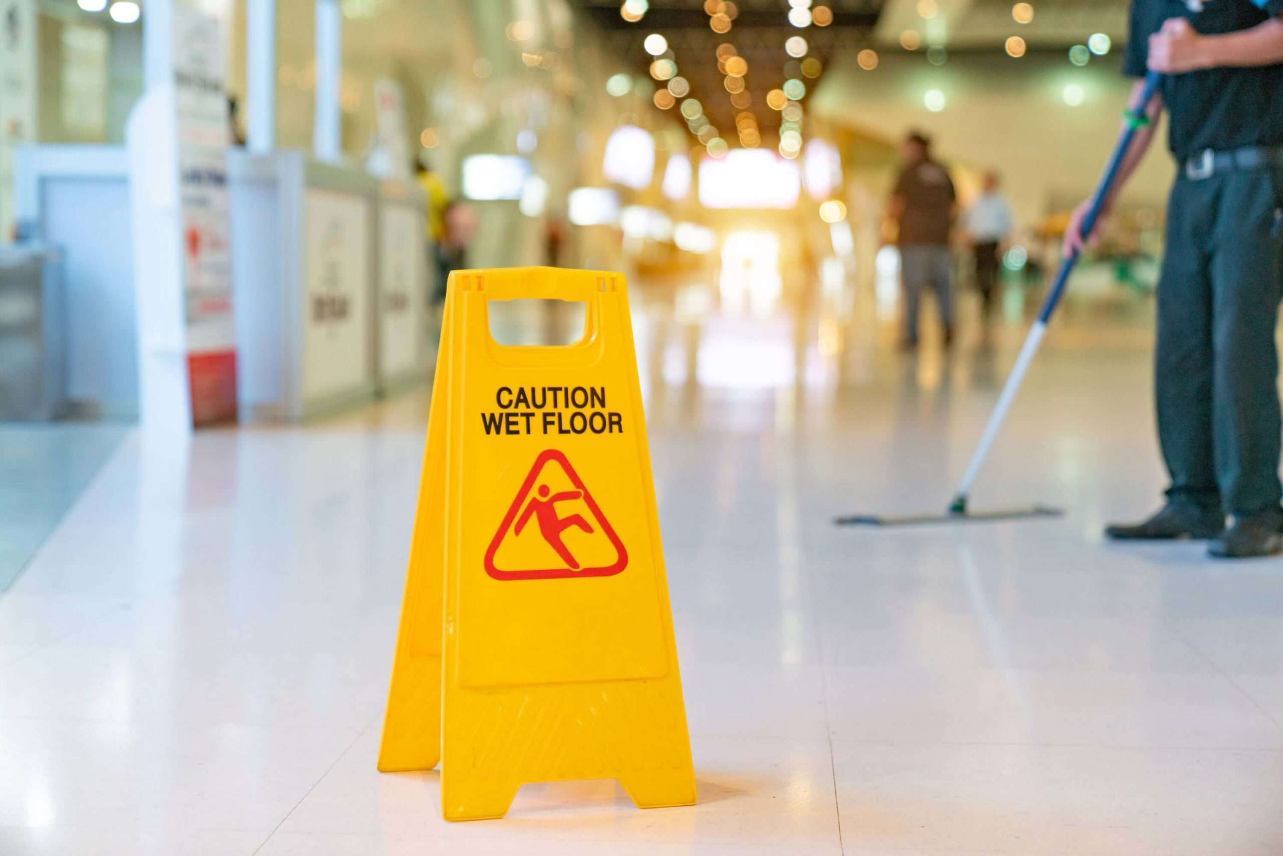 New York Slip and Fall Lawyer Caution Sign