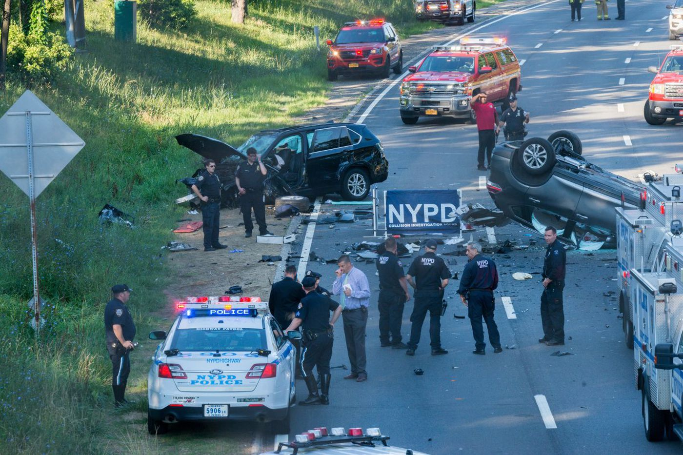 New York Car Accident in the street